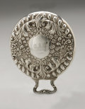 Silver Holloware, American:Mirrors and Vanity-related , An American Silver Hand Mirror. Maker unknown, Early TwentiethCentury. Monogram to the reverse O.A.C., marked on ...