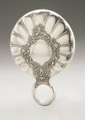 Silver Holloware, American:Mirrors and Vanity-related , An American Silver Hand Mirror. Maker unknown, Early TwentiethCentury. Monogram to the reverse S, remnants of a h...