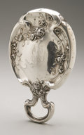 Silver Holloware, American:Mirrors and Vanity-related , An American Silver Hand Mirror. Woodside Sterling Co., New York,NY, Early Twentieth Century. Monogram to the reverse ...