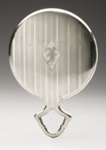 Silver Holloware, American:Mirrors and Vanity-related , An American Silver Hand Mirror. Maker unknown, Early TwentiethCentury. Old English-style monogram to the reverse f,...