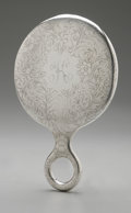 Silver Holloware, American:Mirrors and Vanity-related , An American Silver Hand Mirror. Wilcox Silver Plate Co., Meriden ,CT, Late Nineteenth Century. Monogram to the revers...