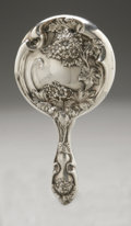 Silver Holloware, American:Mirrors and Vanity-related , An American Silver Hand Mirror. Maker unknown, Early TwentiethCentury. Unidentified hallmark to the side with STERL...