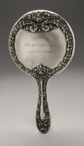 Silver Holloware, American:Mirrors and Vanity-related , An American Silver Hand Mirror. Alvin Corp., Providence, RI, EarlyTwentieth Century. Marked on the reverse This mir...