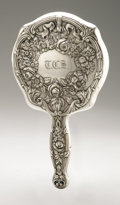 Silver Holloware, American:Mirrors and Vanity-related , An American Silver Hand Mirror. Maker unknown, Early TwentiethCentury. Monogram to the reverse T.C.S., marked on ...