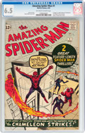 Silver Age (1956-1969):Superhero, The Amazing Spider-Man #1 (Marvel, 1963) CGC FN+ 6.5 Off-white towhite pages....