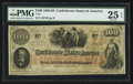 "Confederate Notes:1862 Issues, Manuscript Endorsement ""Wm. F. Bell"" T41 $100 1862 PF-56 Cr. 326.. ..."