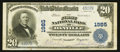 National Bank Notes:Virginia, Danville, VA - $20 1902 Plain Back Fr. 654 The First NB Ch. # 1985....