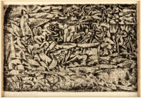 "Paul Klee (Swiss German painter, 1879-1940). Original Etching. Matted to an overall size of 12"" x 16"". Toning..."