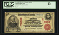 Jamaica, NY - $5 1902 Red Seal Fr. 588 The First NB Ch. # (E)8268