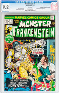Bronze Age (1970-1979):Horror, Frankenstein #1 Don/Maggie Thompson Collection pedigree (Marvel,1973) CGC NM- 9.2 White pages....