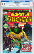 Bronze Age (1970-1979):Horror, Frankenstein #2 Don/Maggie Thompson Collection pedigree (Marvel,1973) CGC NM 9.4 White pages....