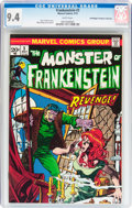 Bronze Age (1970-1979):Horror, Frankenstein #3 Don/Maggie Thompson Collection pedigree (Marvel,1973) CGC NM 9.4 White pages....