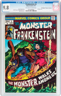 Bronze Age (1970-1979):Horror, Frankenstein #5 Don/Maggie Thompson Collection pedigree (Marvel,1973) CGC NM/MT 9.8 Off-white to white pages....