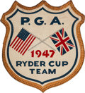 Golf Collectibles:Miscellaneous, 1947 US Ryder Cup Team Golf Bag Crest From The Sam Snead Collection....