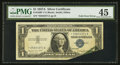 Error Notes:Foldovers, Fr. 1620* $1 1957A Silver Certificate. PMG Choice Extremely Fine45.. ...