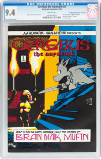 Cerebus the Aardvark #5 Don/Maggie Thompson Collection pedigree (Aardvark-Vanaheim, 1978) CGC NM 9.4 White pages