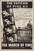 "Movie Posters:Documentary, The March of Time (RKO, February 1940). One Sheet (28"" X 42"") ""The Vatican of Pius XII."" Documentary.. ..."