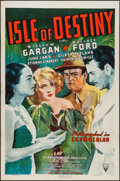 "Movie Posters:Adventure, Isle of Destiny (RKO, 1940). One Sheet (27"" X 41""). Adventure.. ..."