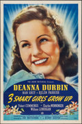 """Movie Posters:Comedy, 3 Smart Girls Grow Up (Universal, 1939). One Sheet (27"""" X 41"""")Style A. Comedy.. ..."""