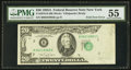 Error Notes:Foldovers, Fr. 2076-B $20 1988A Federal Reserve Note. PMG About Uncirculated55.. ...