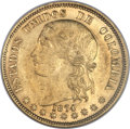 Colombia, Colombia: Republic gold 20 Pesos 1874-B AU58 NGC,...