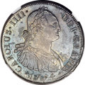 Chile, Chile: Charles IV 8 Reales 1794 So-DA AU58 NGC,...