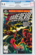 Modern Age (1980-Present):Superhero, Daredevil #168 Don/Maggie Thompson Collection pedigree (Marvel,1981) CGC NM 9.4 White pages....