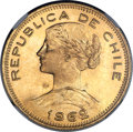 Chile, Chile: Republic gold 100 Pesos 1962-So MS68 NGC,...