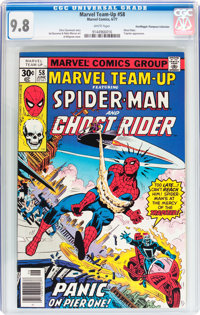 Marvel Team-Up #58 Spider-Man and Ghost Rider - Don/Maggie Thompson Collection pedigree (Marvel, 1977) CGC NM/MT 9.8 Whi...