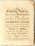 Books:Music & Sheet Music, [Hymns]. The Cathedral Magazine or Divine Harmony. Being a Collection of the Most Valuable & Useful Anthems in Score, et...