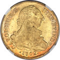 Chile, Chile: Charles IV gold 8 Escudos 1802 So-JJ MS63 NGC,...