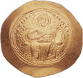 Ancients:Byzantine, Ancients: Constantine IX Monomachus (AD 1042-1055). AV histamenonnomisma (28mm, 4.37 gm, 6h). ...