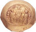 Ancients:Byzantine, Ancients: Romanus IV Diogenes (1068-1071), with Eudocia, MichaelVII, Constantius and Andronicus. AV histamenon nomisma (28mm, 4.41gm, ...
