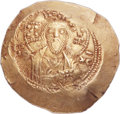 Ancients:Byzantine, Ancients: Nicephorus III Botaniates (1078-1081). EL histamenon nomisma (28mm, 4.35 gm, 6h)....