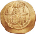 Ancients:Byzantine, Ancients: Isaac II Angelus, first reign (1185-1195). AV hyperpyron (28mm, 4.31 gm, 6h)....