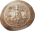 Ancients:Byzantine, Ancients: Isaac II Angelus, first reign (1185-1195). EL asprontrachy (28mm, 3.65 gm, 6h)....