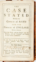 Books:Religion & Theology, [Charles Leslie]. The Case Stated, Between the Church of Rome and the Church of England. London: George Strahan, 171...