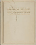 Books:Art & Architecture, [Art]. Maurice W. Brockwell. A Catalogue of Some of the Paintings of the British School...New York: Privately printe...