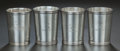 Silver Holloware, American:Cups, FOUR ASSOCIATED AMERICAN SILVER TUMBLERS, Various makers, circa1910. Marks to Stieff tumbler: STIEFF, STERLING, 0701-Y...(Total: 4 Items)