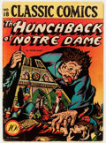 Golden Age (1938-1955):Classics Illustrated, Classic Comics #18 The Hunchback of Notre Dame - First edition 1A(Gilberton, 1944) Condition: VG....