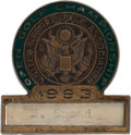Golf Collectibles:Medals/Jewelry, 1963 US Open Golf Championship Player Badge From The Sam SneadCollection....