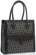 Luxury Accessories:Bags, Christian Dior Black Diorissimo Canvas Tote Bag with Silver Hardware. ...