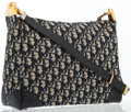 Luxury Accessories:Bags, Christian Dior Navy Blue Diorissimo Canvas Shoulder Bag with GoldHardware. ...
