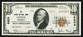 National Bank Notes:Nebraska, Genoa, NE - $10 1929 Ty. 2 The Genoa NB Ch. # 6805. ...