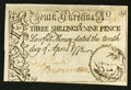 Colonial Notes:South Carolina, South Carolina April 10, 1778 3s 9d Extremely Fine-About New.. ...