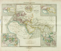 Books:Maps & Atlases, [Maps]. Hand Colored Map Taken from Geographie Anciennes by E. Cortambert. Paris: Boulanger & Legrand, 1864. Mea...