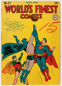 World's Finest Comics #21 (DC, 1946) Condition: VG/FN