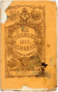 Books:Americana & American History, [Almanac]. Robert B. Thomas. The Old Farmer's Almanac Calculated on a New and Improved Plan, for the Year of Our Lord 18...