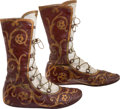 "Movie/TV Memorabilia:Costumes, A Laurence Olivier Pair of Boots from ""Spartacus.""..."