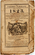 Books:Americana & American History, [Almanac]. Robert B. Thomas. The Farmer's Almanack, Calculatedon a New and Improved Plan, for the Year of Our Lord, 182...
